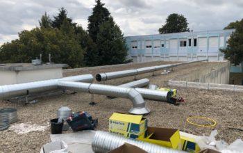 Travaux ventilation sur bâtiment Le Mesnil-Amelot (77)
